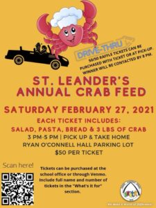 Annual Crab Feed @ Ryan O'Connell Hall Parking Lot